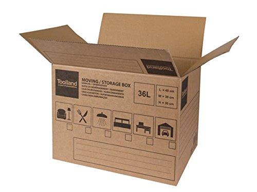 Toolland PH540 Umzugskarton Aufbewahrungsbox, 40 cm x 30 cm x 30 cm Abmessungen
