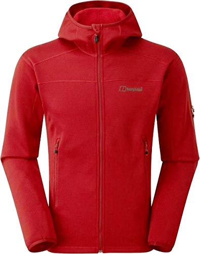 berghaus Herren Pravitale Mountain Hooded Fleecejacke Dahlia/Haute Red, L