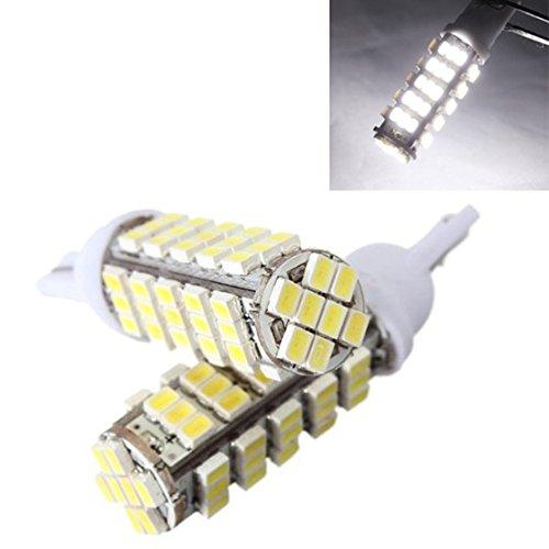 Sonline 2X T10 W5W Ampoule 68 LED SMD W5W BLANC Xenon veilleuse DC 12V VOITURE feuxtableau de bord Indicateur