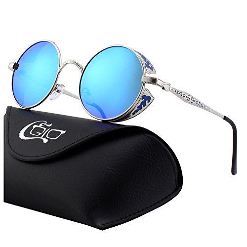565e3c8a3b CGID E71 Steampunk estilo retro inspirado círculo metálico redondo gafas de  sol polarizadas para hombres
