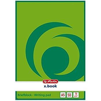 Herlitz Briefblock DIN A4 blanco Schreibblock 100 Blatt je Block