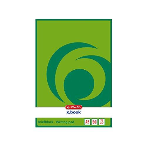 5x Herlitz Briefblock / Schreibblock / DIN A5 / blanco