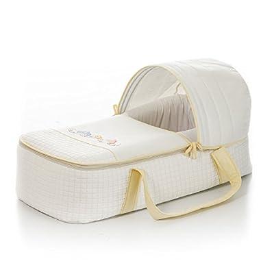 Capazo moisés BEBE bordado MARIPOSAS color beige. Incluye: Colchón, Capota y Asas. Acolchado muy cómodo, calentito y confortable. Cierres con cremallera. Un regalo ideal para recien nacido. KOKETES