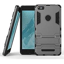 Qiaogle Teléfono Case - Shock Proof PC Hybrid Stents Carcasa Cover para Xiaomi Mi4C / 4C / M4C (5.0 Pulgadas) - HK06 / Gris
