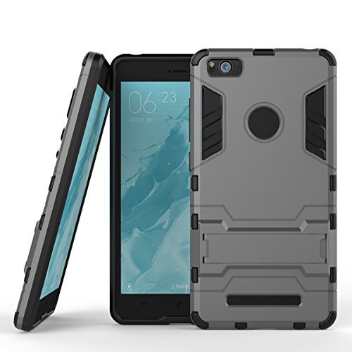 SsHhUu Xiaomi Mi 4C Hülle, Stoßsichere Dual Layer Hybrid Tasche Schutzhülle mit Ständer für Xiaomi Mi 4C 2015 (5.0