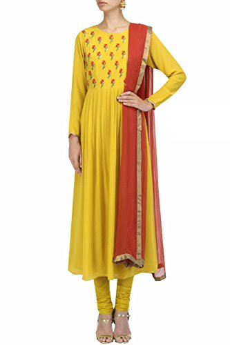 Bigben Yellow Georgette Embroidery Designer Salwar Suits
