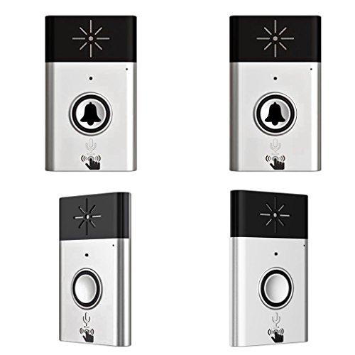 Blesiya batteria operare campanello a pulsante senza fili con funzione di interfono vocale - 2 trasmettitori+2 ricevitori