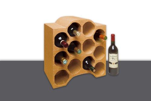 Climapor Flaschenbox Bogenform, terra - für 12 Flaschen max. Ø 9 cm - SONDERPREIS 4 Stück Wandhalterung V-konsole