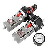 Compresor de presión de aire Filtro PT1 / 4 Gauge Trampa Aceite Regulador de agua Kit de herramientas