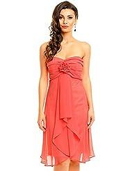 Empire Kleid Cocktailkleid Abendkleid kurz aus Chiffon in verschiedenen Farben