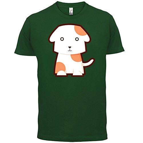 Cute Dog - Herren T-Shirt - 13 Farben Flaschengrün
