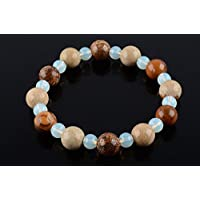Boviswert Armband,100% Echte Edelsteine, Jaspis- 10mm und Opalglas-Perlen 6mm. preisvergleich bei billige-tabletten.eu