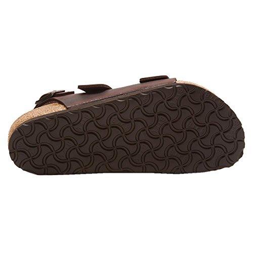 Birkenstock Milano Dark Brown Mens Sandals Dunkelbraun