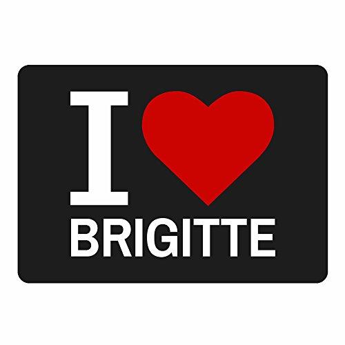 Tappetino per mouse Classic I Love Brigitte Nero