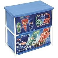 Arditex les pyjamasques–Mueble de almacenaje con 3Compartimentos, poliéster, Azul, 53x 30x 60cm