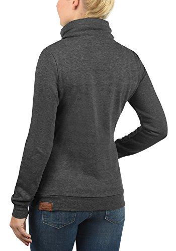 DESIRES Vicky Zipper Damen Sweatjacke Jacke Sweatshirtjacke Mit Stehkragen, Größe:L, Farbe:Dark Grey Melange (8288) - 3