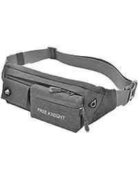 Outdoor Casual Sports Waist Bag Workout Fanny Pack Bag For Jogging Walking Hiking Climbing Camping (Grey)