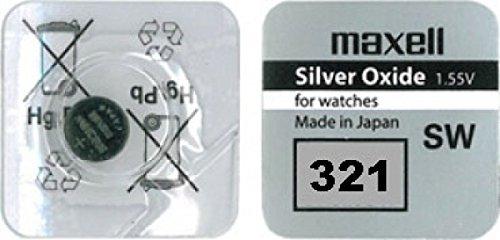 Maxell 321 Uhrenbatterie, SR616SW Knopfzelle