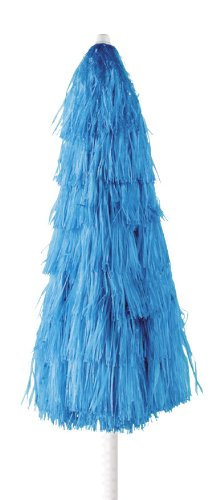 Maffei art 6 kenia, ombrellone rotondo diametro cm 200, ricoperto con rafia, colore blu