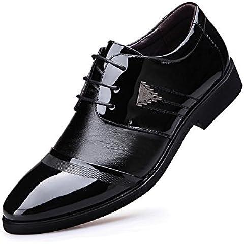 Los hombres de moda zapatos casual de negocios/Inglés encaje bajo de corte zapatos puntiagudos