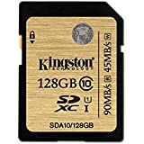 Kingston Scheda SD professionale SDA10/128GB UHS-I SDHC/SDXC di Classe 10 - 128GB