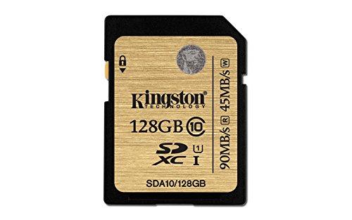 Kingston SDA10/128GB UHS-I SDHC/SDXC SD-Karte Klasse 10 Speicherkarte (Sd-karte Memorias)