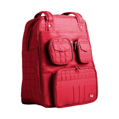Lug Womens Puddle Jumper Overnight and Gym Top-Handle Bag Crimson Red