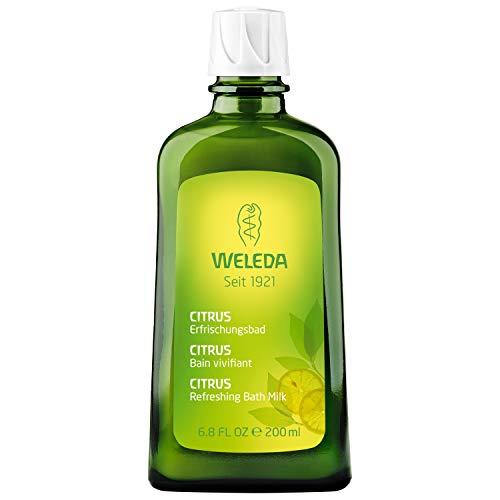 Bio-lavendel-bad (WELEDA Citrus Erfrischungsbad, Naturkosmetik Bio Badezusatz erfrischt und entspannt Körper und Geist mit ätherischen Citrusölen, Bade Essenz mit angenehmem Zitrus Duft (1 x 200 ml))