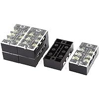 6 piezas de 2 filas de 3 posiciones con terminales de tornillo del bloque regleta de conexión de 600V 25A