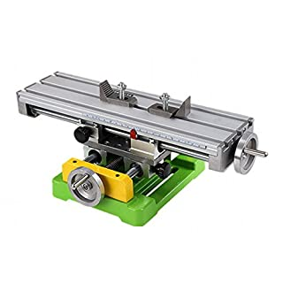 ABEST High Precision Compound Slide Table/Worktable Milling Working Cross Bench Milling Machine Compound Drilling Slide Bench for Mini Bench Drill Adjustment