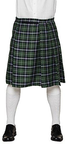 erdbeerclown- Karierter Schotten Rock Kilt in Knielänge Kostüm , (Kostüme 1980 Motto)