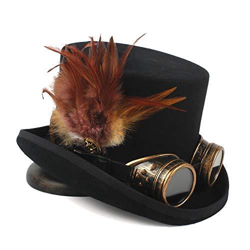 Sehr weich und angenehm zu tragen Steampunk Top Hat 4 Größe Wolle Frauen Männer Top Fedora Hut Tea Party Hut - Hüte Top Männer