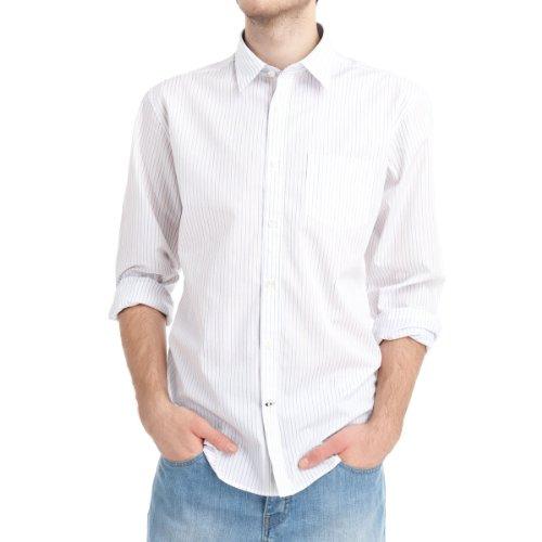 SPRINGFIELD - Chemise manches longues en popeline de coton avec une poche - Homme Blanc
