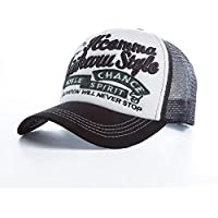 YUANCHENG Gorra de béisbol Hombres y Mujeres Spring Mesh Snapback Noble Spirit Bordado de Gama Alta Summer Cotton Hat Cap Negro