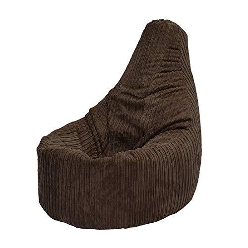 WFFH Bean Bag, Sitzsack für Gamer, Cord-Sessel, Stuhl für Erwachsene, Gaming-Sitzsack, Jumbo-Cordsessel - Sitzsack(Anthrazit) -