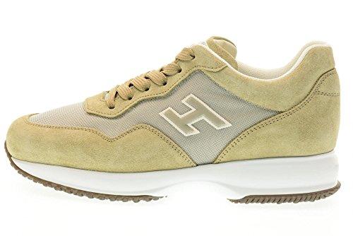 HOGAN scarpe uomo sneakers basse HXM00N0U41067A241L INTERACTIVE Sabbia