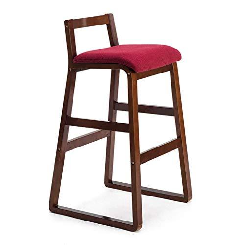 Chaise de Salle à Manger/siège de Bar,Chair Bois Massif rétro créatif Haut Tabouret, Salon/réception / Salon de beauté/Salon de Coiffure Chaise de Mode/Tabouret,BB