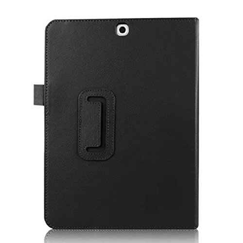 Towallmark(TM)For Samsung Galaxy Tab S2 9.7 T815 Leather Stand Flip Case Cover (Black) by Towallmark(TM)