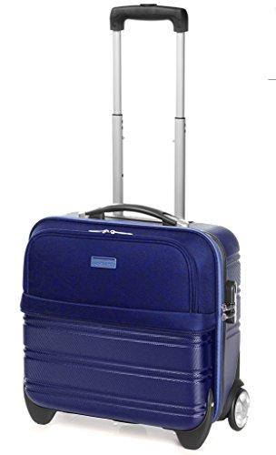 Lightweight Laptop Case on Wheels Business Travel Bag (215 Blue)