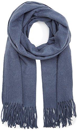 PIECES Damen Schal Pcjira Wool Scarf Noos, Blau (Flint Stone), One Size