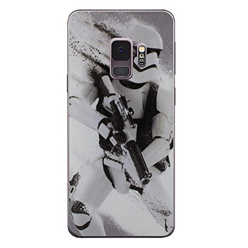 I-CHOOSE LIMITED Star Wars Telefon Hülle/Case für Samsung Galaxy S9 (G960) mit Bildschirmschutz Gel/TPU / Stormtrooper Spritzen
