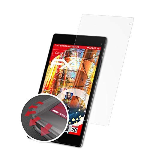 atFolix Schutzfolie passend für Medion LIFETAB P8312 Folie, entspiegelnde & Flexible FX Bildschirmschutzfolie (2X)