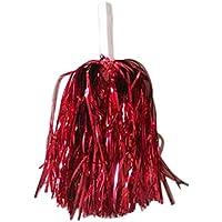 DaoRier 1pc Cheerleader mano Flores Juegos Pompoms bola de la Danza Animadora Pompones de bola Flores con Mango de Plástico Mano Flores Pompones de Animadora