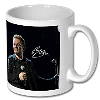 Star Prints UK Bono - U2 2 Personalised Gift Mug Coffee Tea Drink Cup Autograph Print (No Personalised Message)