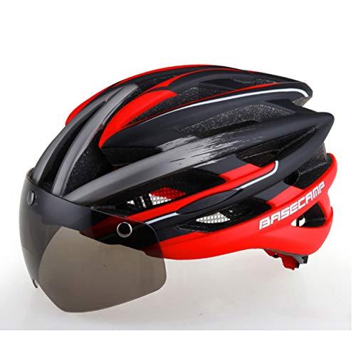 ZMHX Helm Fahrradhelme Sonnenbrillen Visier Fahrradbrille Helm 3 Objektiv Integral Geformt Männer Frauen Mountain Road Bike Helme