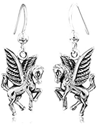 Earrings Silver 925 Jewelry Pegasus Materia - Horse with Wings Silver Earrings Ladies Jewelry Box Incl #SO-132 s29T5