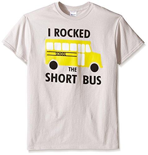 TLine Herren T-Shirt Funny Rocked The Short Bus Graphic - grau - Mittel - Graphic T-shirt Short