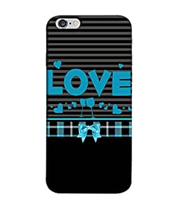 Apple iPhone 6s Plus, Apple iPhone 6s+ Back Cover Love Blue Black With Drink Glasses Design From FUSON