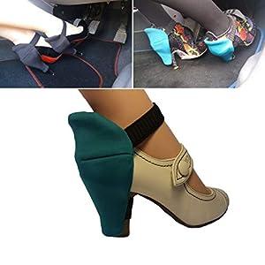 Schuhabsatzschutz für Frauen ein Auto fahren für kratzfrei Stilettos Schuhe Auto Absätzen Kratzerprävention Schuhretter Perfekt für Frauenfahrer Grün Stiletto Absatzbezüge