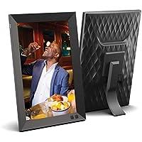 NIX 10.1 Zoll Digitaler Bilderrahmen 1280 x 800 HD-Display, Bewegungssensor, automatischer Fotodrehung, USB- und SD-Kartensteckplätzen und Fernbedienung